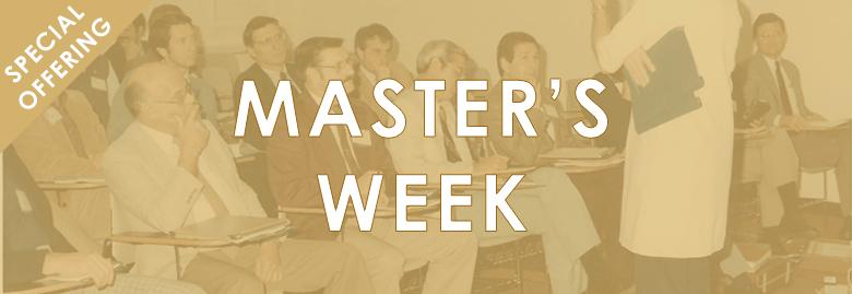 Master's Week